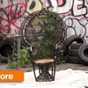 Before & After: A Beat-Up Peacock Chair Gets Pretty