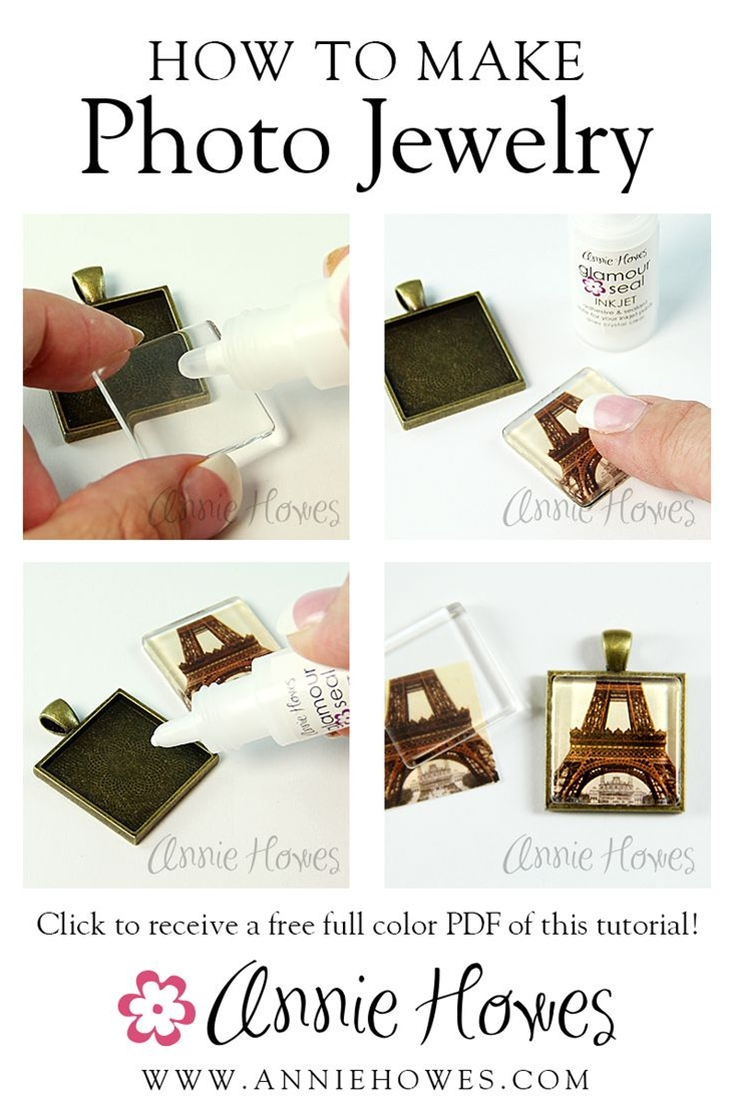 It's easy to make your own photo jewelry