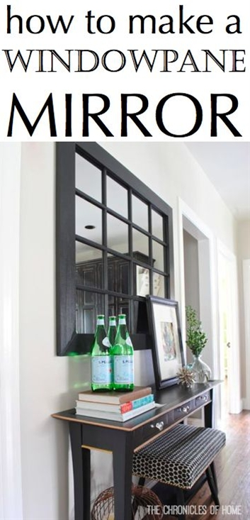 How to make a chic windowpane mirror out of simple hardware store materials