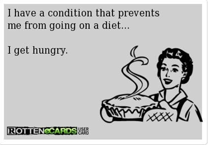 Hahaha I think it is totally unfair that overweight people get hungry in the first place. I find it annoying when my tummy rumbles. You have resources! Utilize them! lol