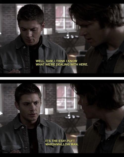 Never change, Supernatural. Never change.