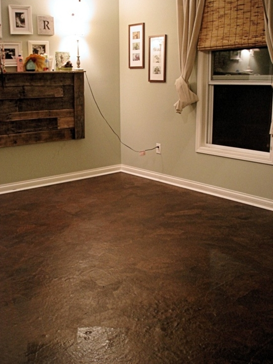 Brown craft paper floors