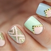 Pastel Spring Nails! http://paulinaspassions.com/studded-pastel-nails-born-pretty-store-studded-wheel/