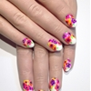 Watercolour flowers nail art tutorial in this months @ScratchMagazine using @essie @chinaglaze @opi_products @nicolebyopi @sechenails @cndworld Nails by Sophie Harris-Greenslade at The Illustrated...