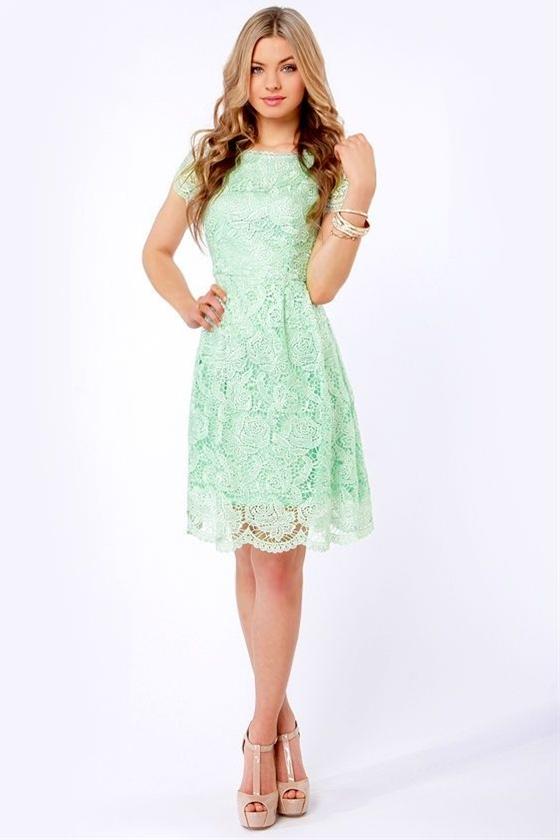 so beautiful mint dress
