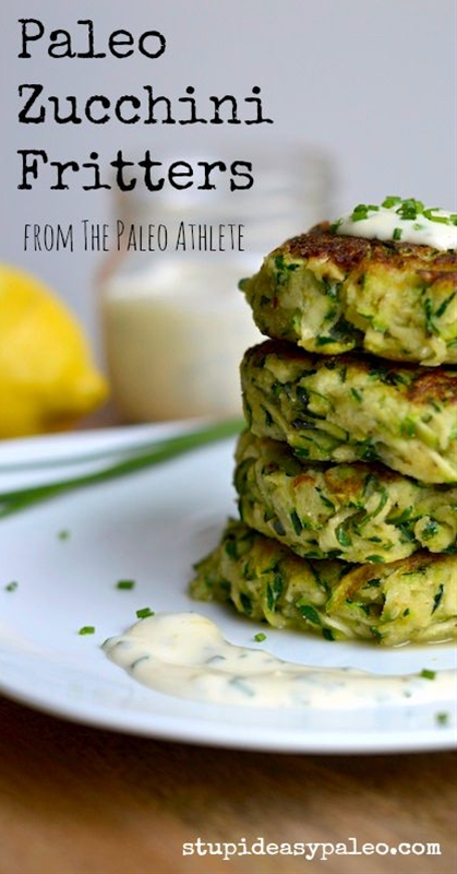 These Paleo Zucchini Fritters are one of my most favorite veggie side dishes I've cooked up lately. The recipe's one I adapted from Smitten Kitchen, a really cool—though not necessarily Paleo_blog. If you have a food processor with a shredding blade, this recipe becomes even faster to make but have no fear: I broke out my trusty box grater to do the job, and it worked like a charm...