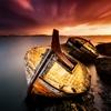 Old ship by Gudjón Ottó Bjarnason