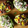 avocado cup salads, two ways