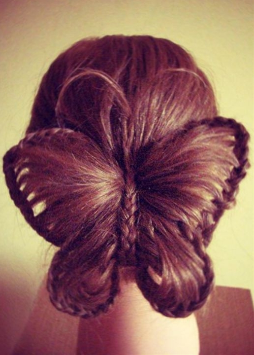 Hairdo Butterfly. Wouldn't do this personally but it's friggin amazing