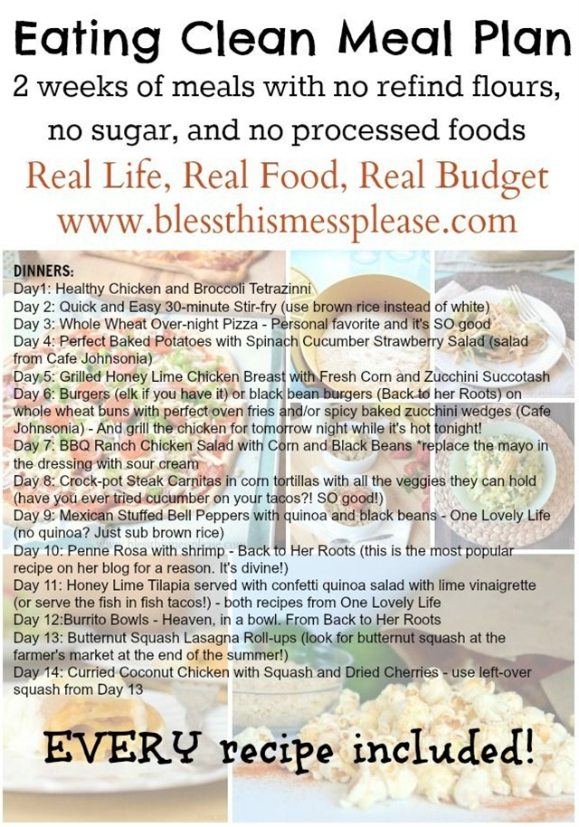 Oooh! she put together a two-week meal plan. I like it when people do the menu-planning work for me.