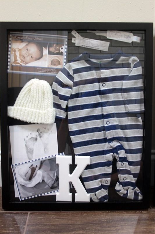 Hospital band, first shoes, newspaper from the day he is born, going home outfit, hat, first tooth, sonogram pic...