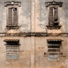 Crumbling old French colonial architecture in Savannakhet, Laos....